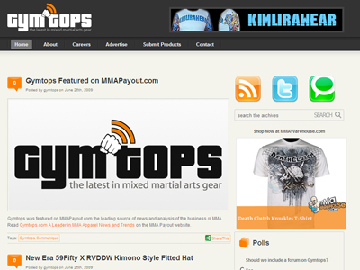 Gymtops - MMA Apparel Web Magazine